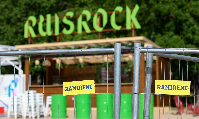 Ruisrock, Kalustovuokraus tapahtumaan Ramirentin toimesta