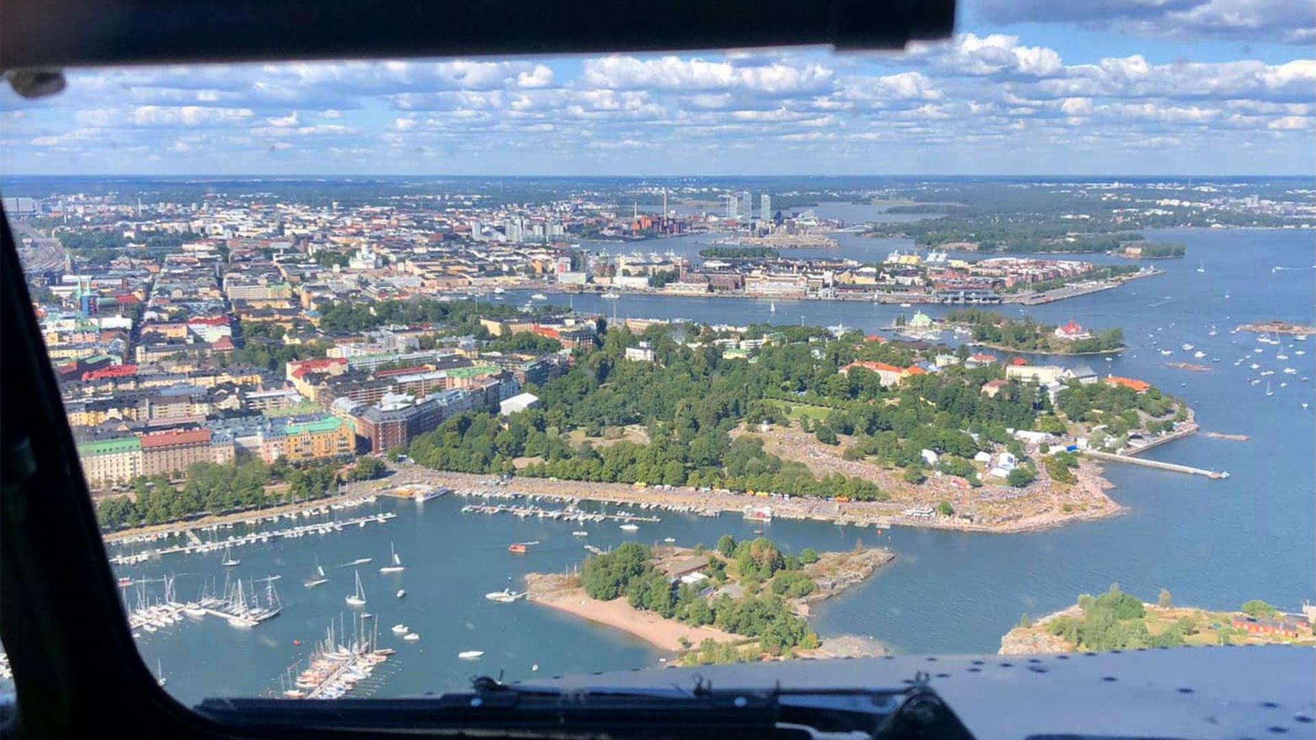 Ilmakuva, Kaivopuiston lentonäytös 2021, Helsinki